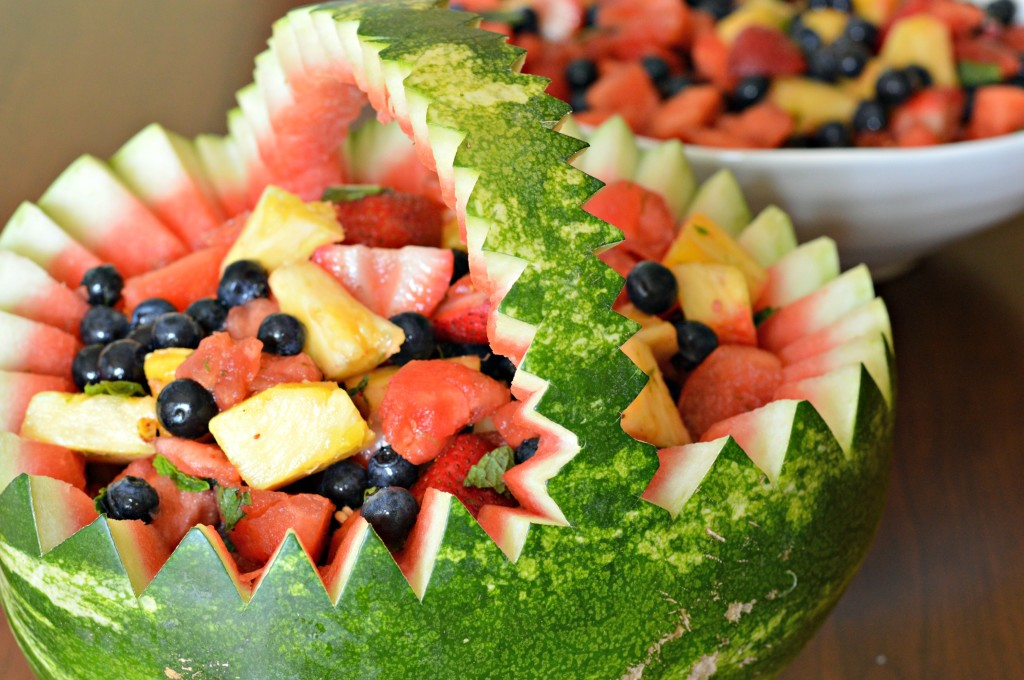 How to Make A Watermelon Basket - West of the Loop