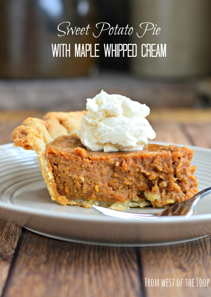 Sweet Potato Pie with Maple Whipped Cream | Most Loved Thanksgiving Pies of All Time