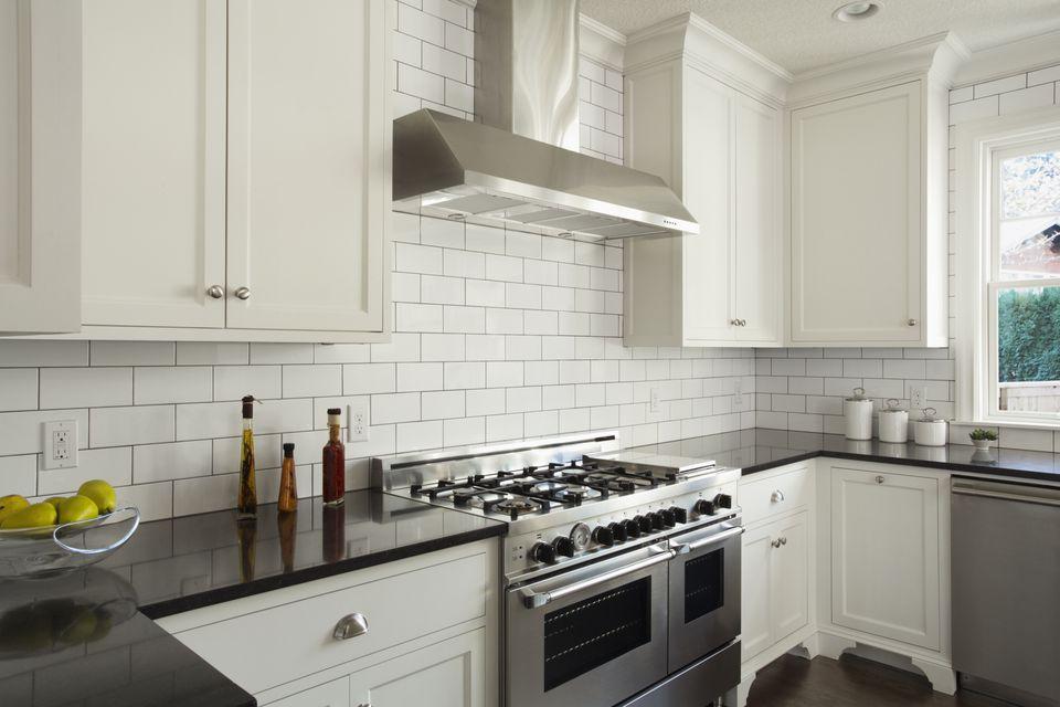 White Subway Tile Kitchen Modern